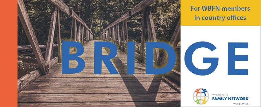 The banner for Bridge, the worldwide WBFN newsletter