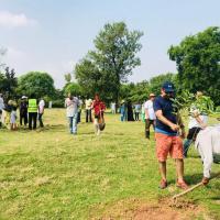 Tree planting event in Pakistan last October