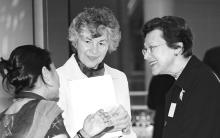 Elaine Wolfensohn w/ Chantale Holzmann and Hada Zaidan
