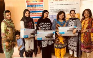 Pehli Kiran School Printer Handover Sadaf Saeed Islamabad 1 Nov 2017