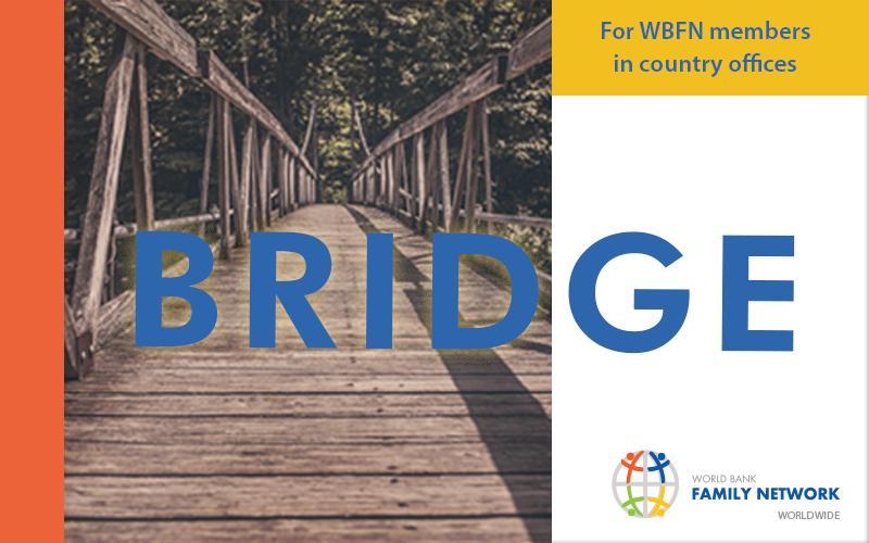 The banner for Bridge, the worldwide WBFN newsletter